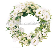 Artificial PVC Wreath with flowers as christmas tree decoration picks/decorative glitter floral picks