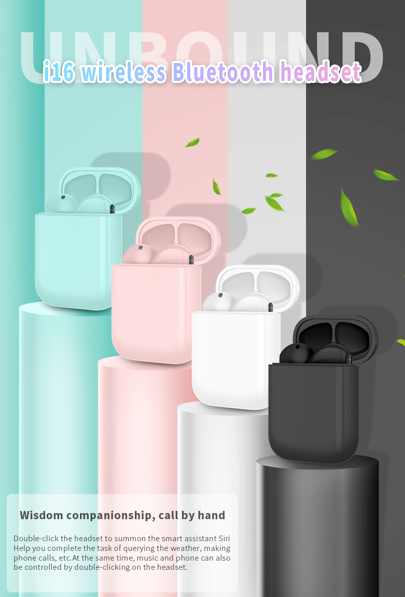 TWS 5.0 BT wireless earbuds earphone with colorful  Magnetic cover