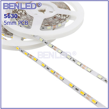 Concurrentiel SMD5630 Imperméable DC12V Tira 5730 5mm PCB Haute CRI RVB Blanc Blanc Chaud 60 <span class=keywords><strong>LED</strong></span> Flexible 5630 <span class=keywords><strong>LED</strong></span> Bande