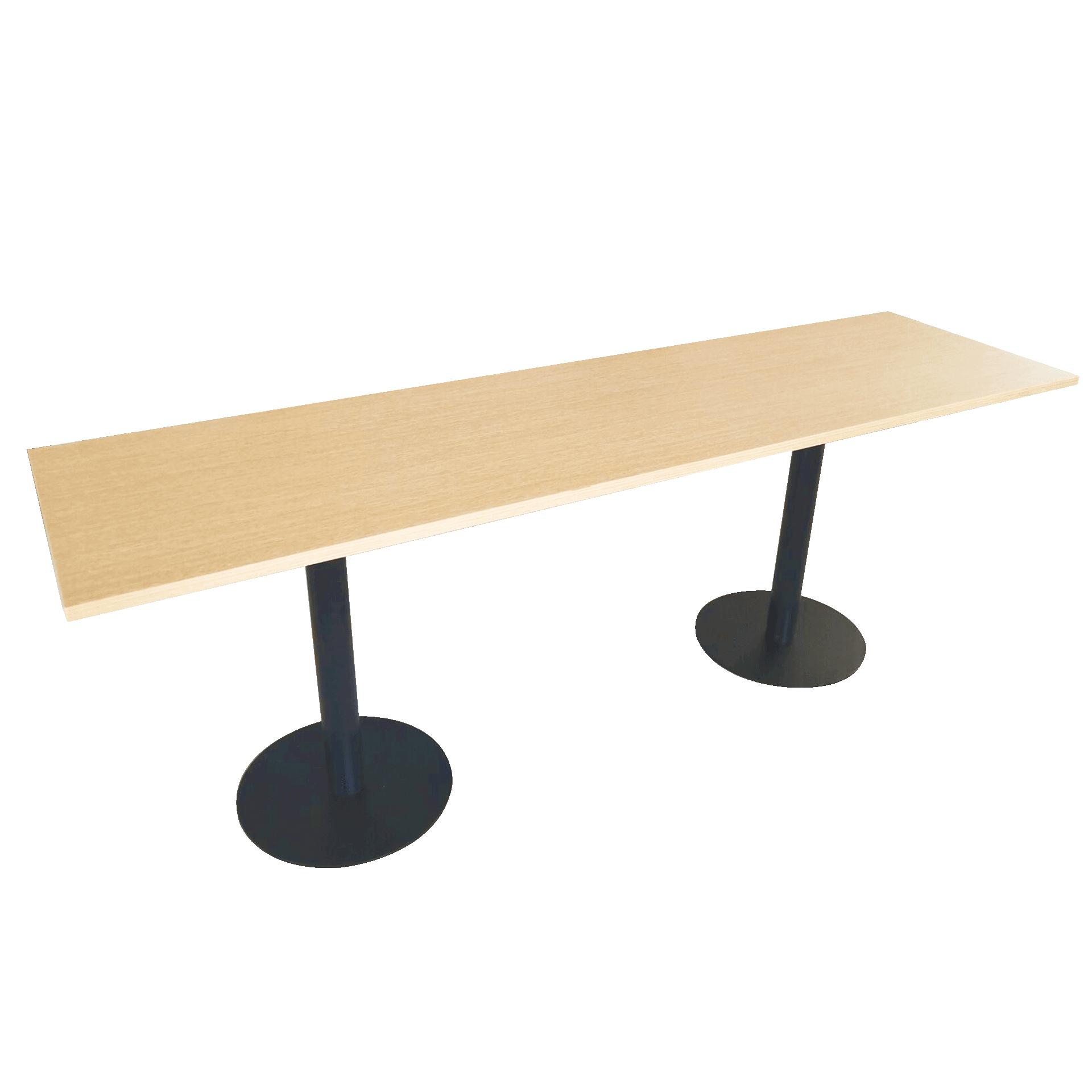 Restaurant Bar Table 2 Legs Height Adjule Design For High End Material