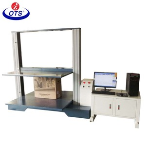 Servo Motor Box Carton Compression Strength Testing Machine / carton packaging boxes compression tester