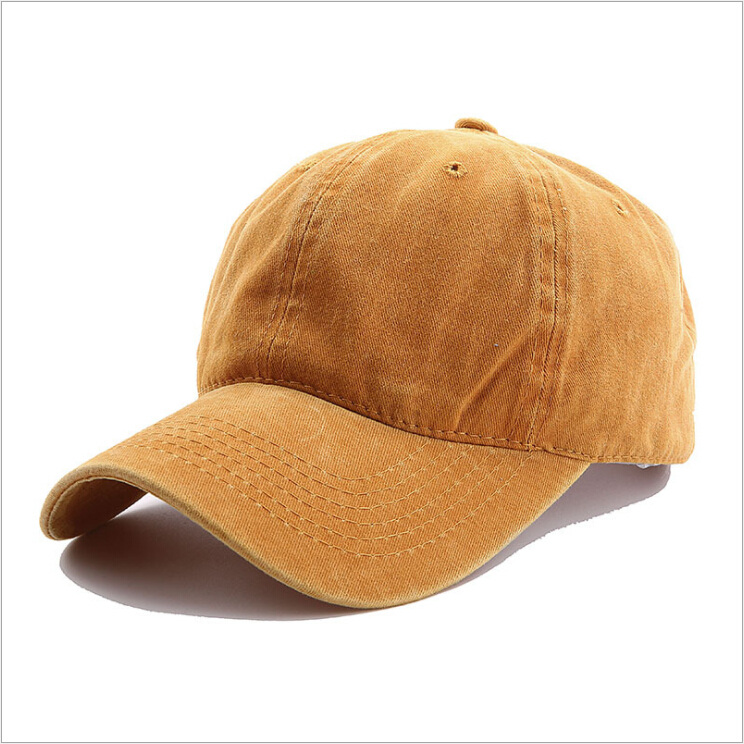 Mens pigment dyed washed cotton adjustable unstructured blank dad hat