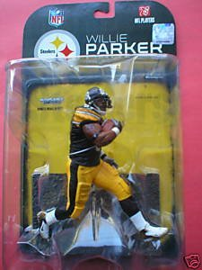 9e86e646c Get Quotations · Willie Parker Pittsburgh Steelers White Wrist Tape  McFarlane NFL Action Figure by Unknown