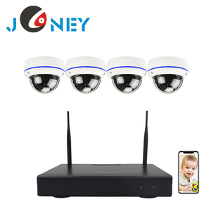 wireless nvr kit with vandal proof mini dome camera 4 channel wifi nvr