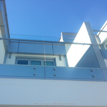 Outside Tempered Laminated Glass Railing Balcony Frameless Glass