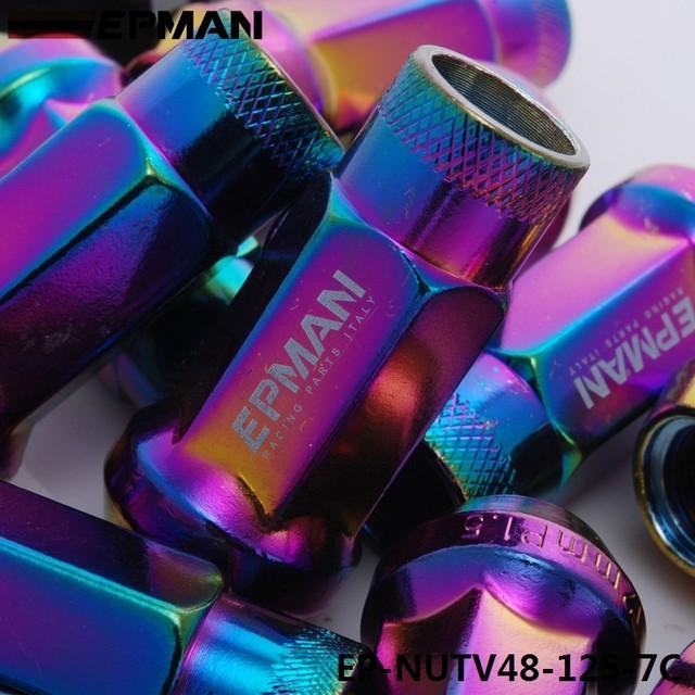 20 Tuercas de Rueda de sintonizador de M12x1.5 unidad interna Slim Mazda Mitsubishi Ford JDM púrpura
