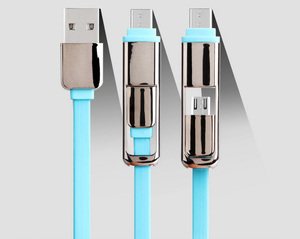 High Quality USB To Type-C With Android 2 in 1 micr USB Cable For Letv S 6 And Type C Android Universal