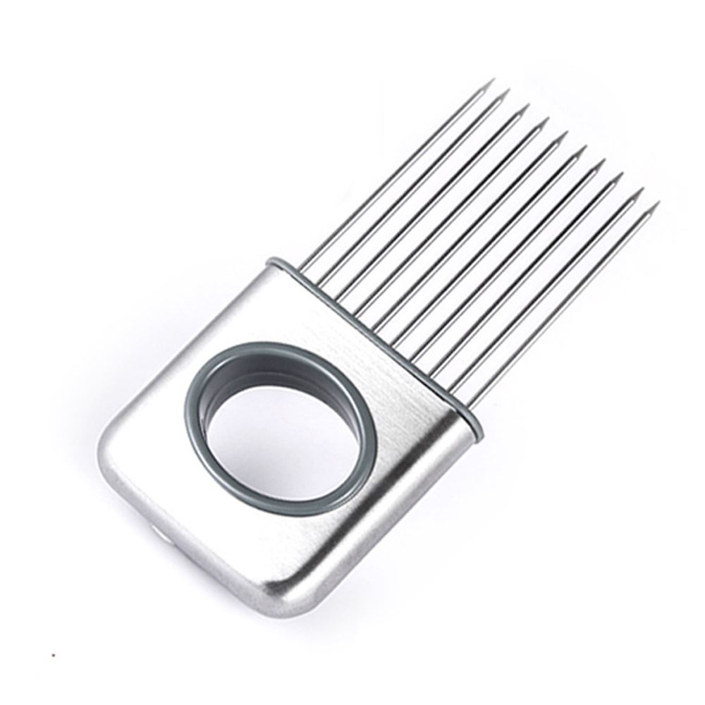 Fruit Vegetable Tools Stainless Steel Onion Holder Slicer Kitchen Gadgets Easy Cut Tomato Meat Tenderizer Onion Holder Fork