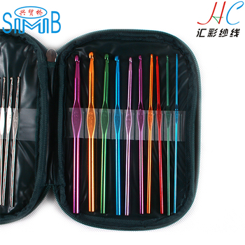 China hand knitting needleworks factory huicai textile wholesale crochet hooks knitting needles set