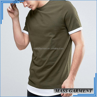 New Look Mens Hip Hop Extended T Shirt Blank Wholesale Rock T Shirt