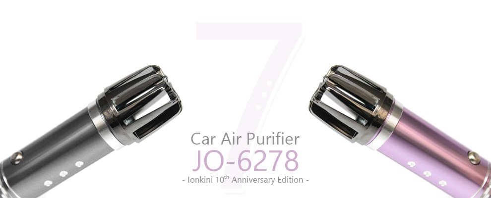 Portable 12V Car Electrical Ionic Air Purifier JO-6278 ( CE,FCC,ROHS,Patent )