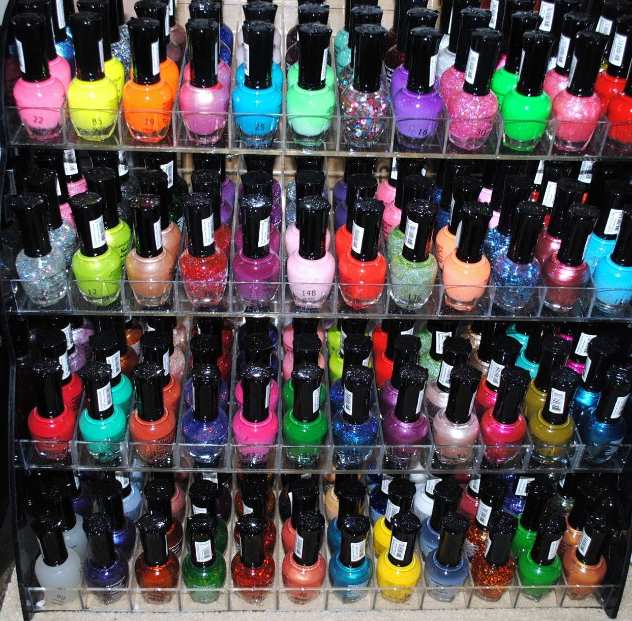 Get Quotations 48 Piece Rainbow Colors Glitter Nail Polish Lacquer Set 3 Scented Polsih Remover