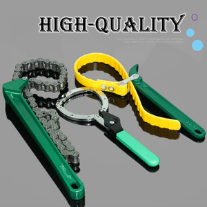 Belt type oil filter wrench strap type chain spanner chain pipe wrench