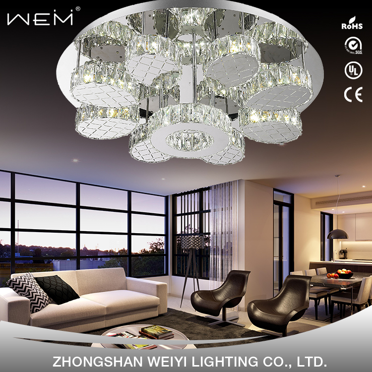 Indoor LED Ceiling Lighting Unique Artistic Style Fixture Circle Luxury Ceiling Lights