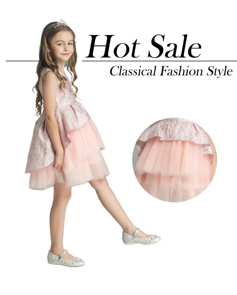 f88cffe68607616 Летнее Детское розовое атласное платье с цветочным узором и поясом Ангел  Модное детское платье для девочек