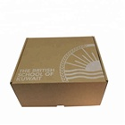 Recycled Material cheap brown kraft paper box for shoe packaging