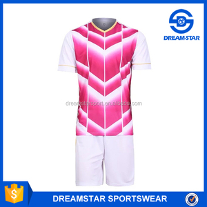 White And Pink New Design Plain Training Jersey Soccer