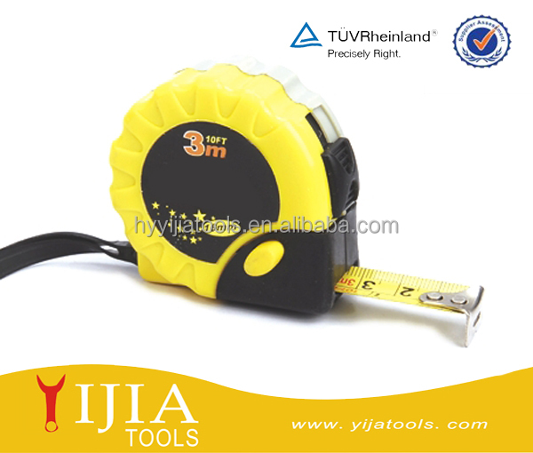 Auto-stop rubber coated steel tape measure