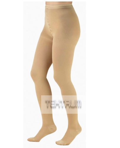 eb1bef5fc Get Quotations · Tektrum Waist High Firm Opaque Compression Pantyhose  Medical Stockings 20-30mmhg for Men and Women