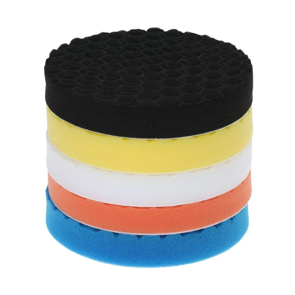 "5PCS Brand New 3"" 80mm/4"" 100mm/5"" 125mm/6"" 150mm/7"" 180mm Car Polishing Pads Waxing Buffing Pad Sponge Kit Set for Car"