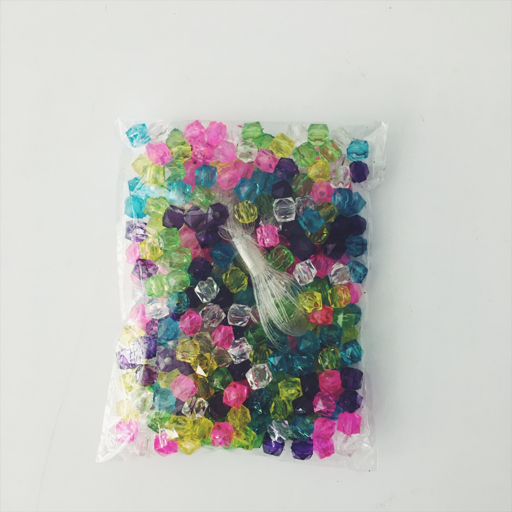 300pk wholesale 8mm Colorful Crystal Acrylic Beads for Jewelry Making