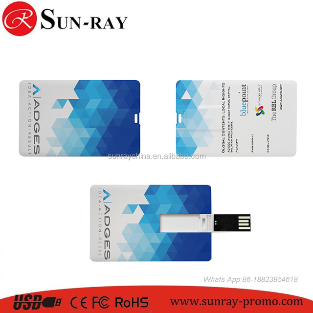 Free Print Fullcolor Logo Card Shape Usb Credit Flash Drive From Top 1 Supplier