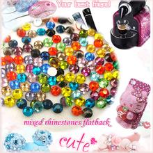 Moda de várias cores brilhante Glitter cores misturadas SS3-SS30 3D decorações Nail Art não hotfix natator pedrinhas DIY montagem
