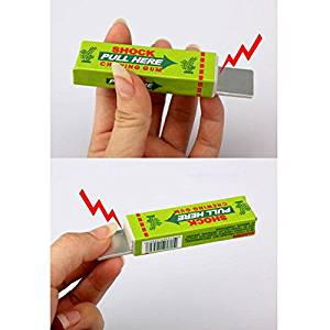 ctric Shock Chewing Gum Safety Trick Joke Toy Electric Shock Shocking Chewing Gum Funny Toy Pull Head