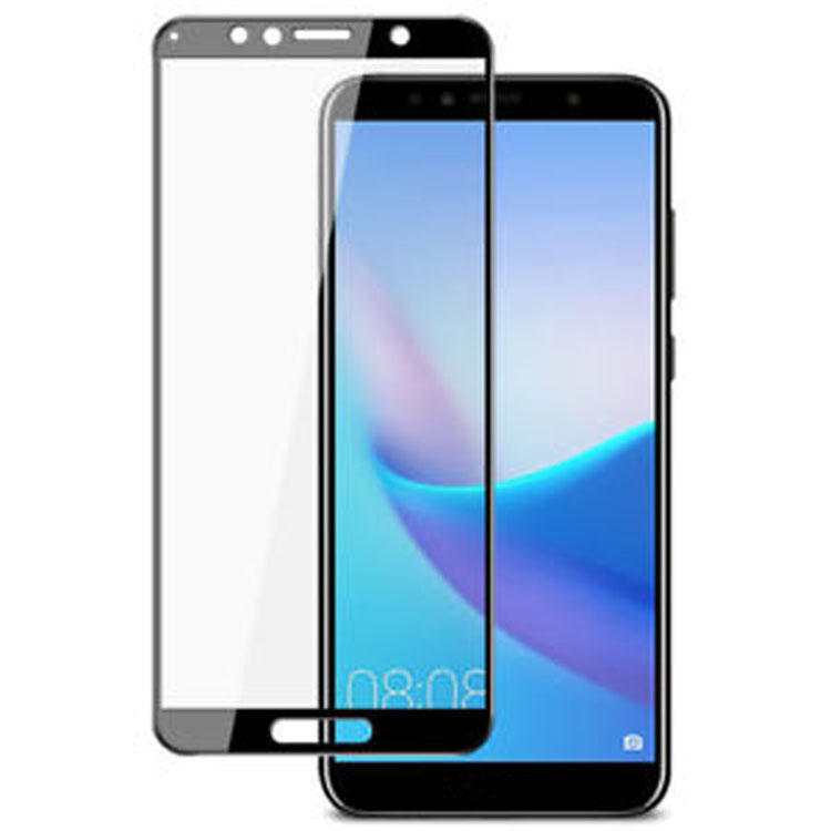 Premium real 3d curved tempered glass screen protector film for huawei Y6 2018