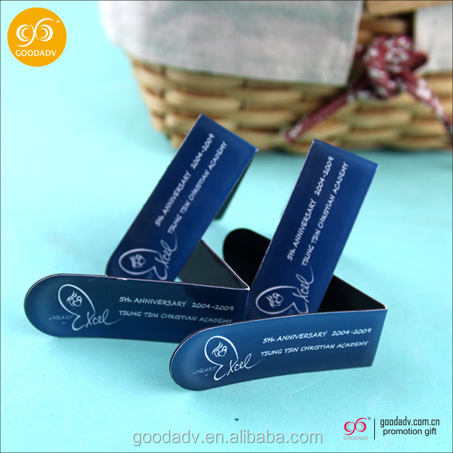 Guangzhou factory provide wholesale gift folding magnetic bookmark/advertising bookmark