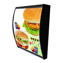 custom made size and shape led advertising equipment curved acrylic material illuminated led restaurant menu display light box