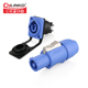 China manufacturing Blue 3 pole easy lock powercon connector electrical wire connectors types push pin connector