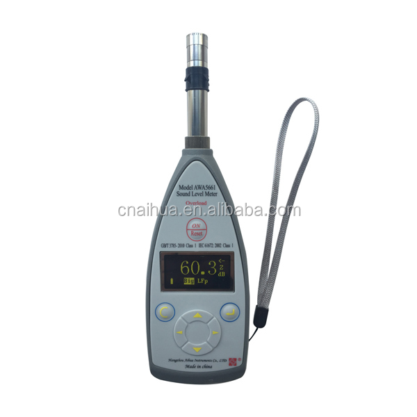 Measuring Range 27dBA~140dBA Type 1 sound level meter AWA 5661-2