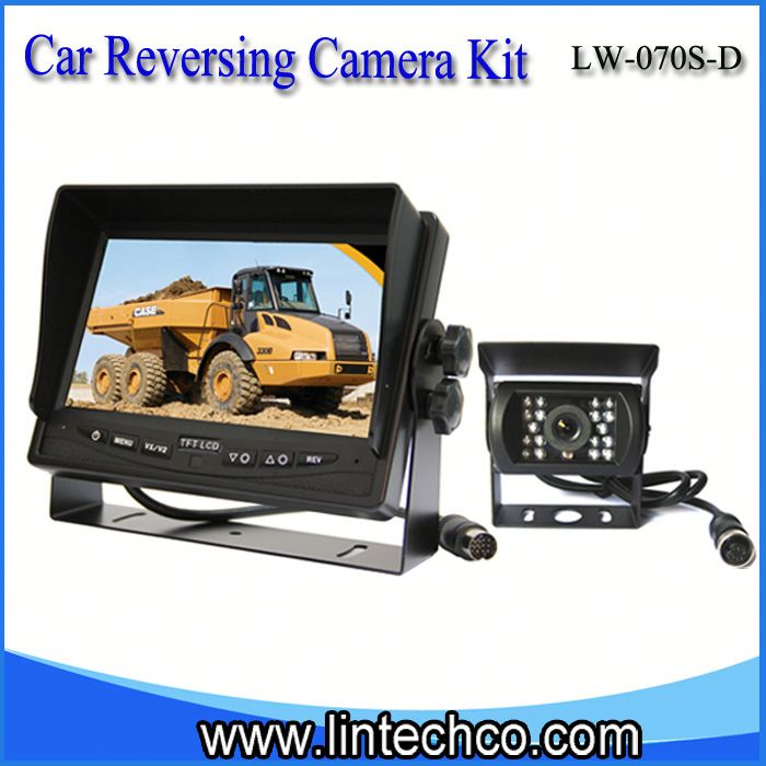 car reversing camera| digital car LCD monitor| car auto security system for fire-extinguishing foam tanker