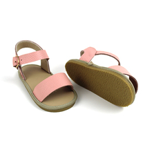 Wholesale kids toddler sandals shoes with hard rubber sole baby girl sandals