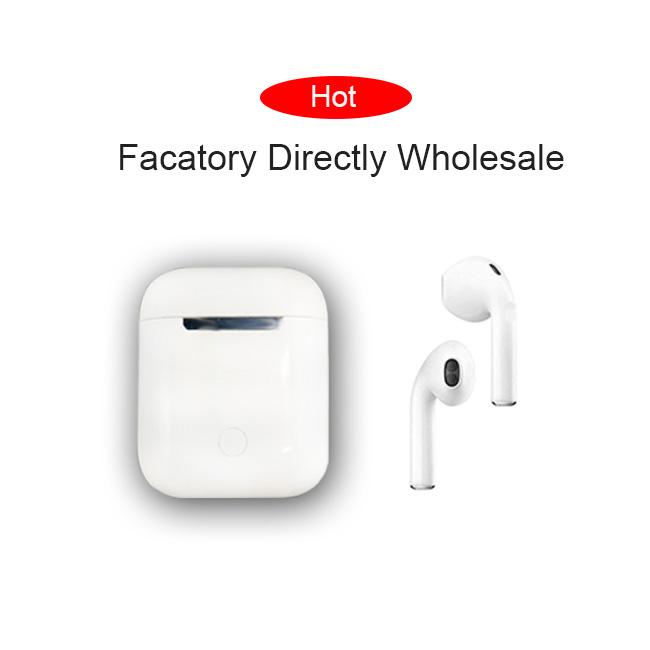 2019 VTR tws i8 i8x i9 i9s i10 tws ifans bt mini earphone headphones hifi tws wireless headset earbuds, White