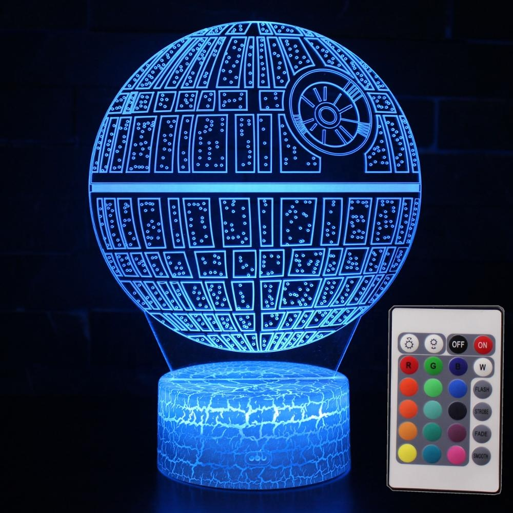 Multi-colored Creative Visual Gift Acrylic Children 3D Led Night Lamp for Star War Fans