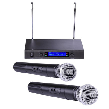 black color vhf professional wireless microphone system buy vhf professional wireless. Black Bedroom Furniture Sets. Home Design Ideas