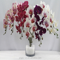 wedding decoration& spring season87cm fabric artificial phalaenopsis orchid stem