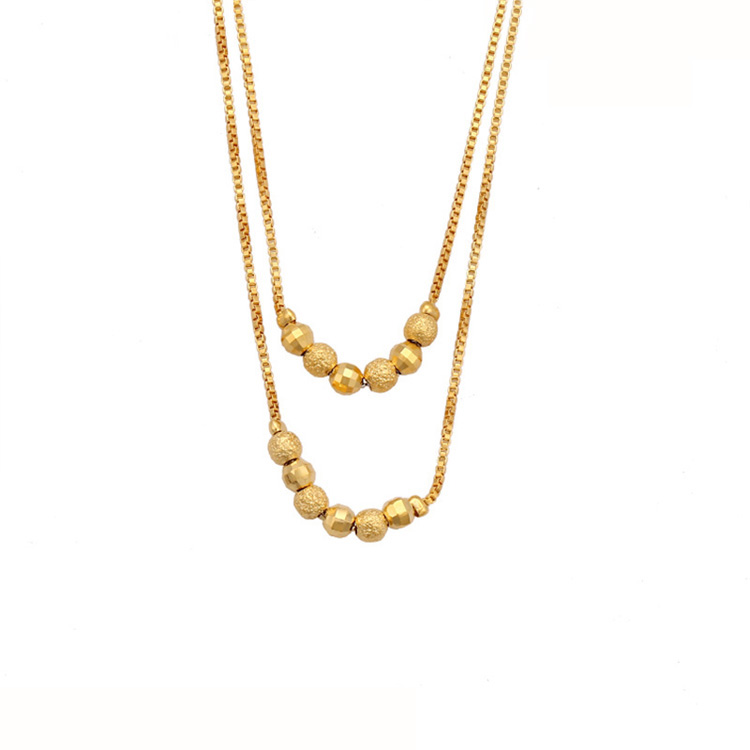 Xuping China gold 24K new style imitation jewels necklace for women фото