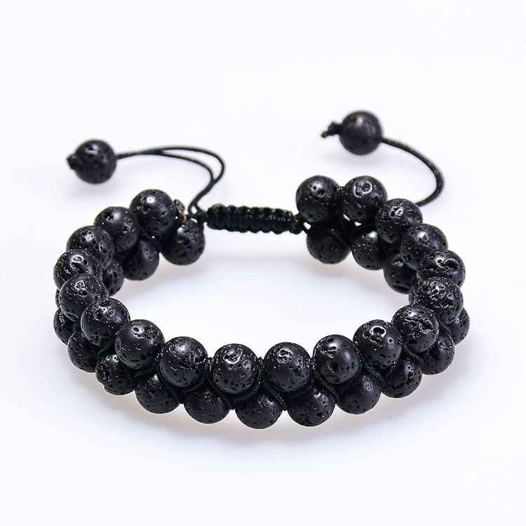 Handmade Natural Lava Stone Beads Essential Oil Diffuser Adjustable Bracelet