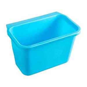 HULISEN Creative Multifuctional Plastic Kitchen Desktop Hanging Food Waste Garbage Bowl Bin Rubbish Organizer Trash Junk Box, Compost Pail Bin, Scrap Trap(3 Colors Optional) (Blue)