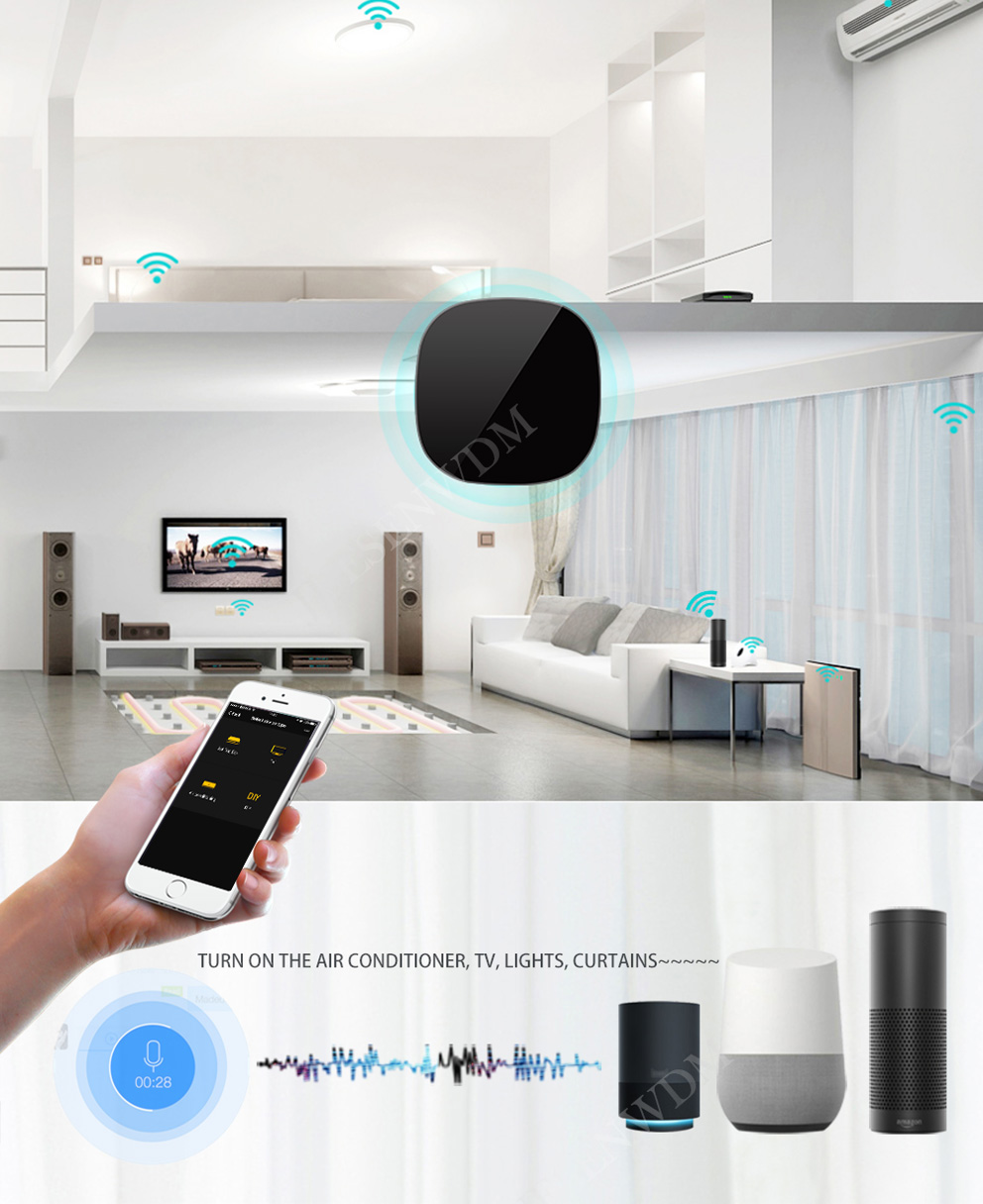 Alexa / Google WIFI IR RF Universal Smart Remote Control For
