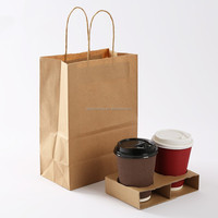 recycled brown kraft paper bag manufacturer in China