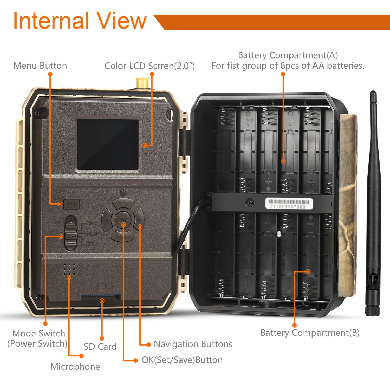 Sifar 4.0CG IP66 outdoor wireless 4G 3G GPRS GSM trail hunting MMS camera