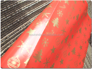 wholesale china supplier printed gift wrap paper with leaf design