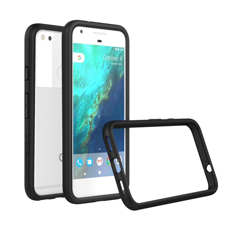 Google Pixel XL Case - RhinoShield [CrashGuard] Bumper [11 Ft Drop Tested] -UPDATED VERSION- No Bulk [ShockProof Technology] Thin Lightweight Protection [New Version] Slim Rugged Cover - [Black]