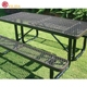 comfortable red color PVC coated expanded metal garden bench/chairs