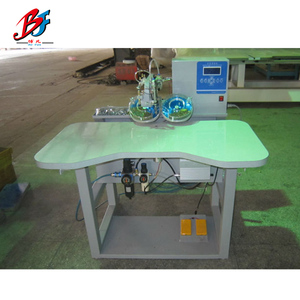 Shaoxing double disc hot fix stone diamond ironing machine embroidery stone fixing machine