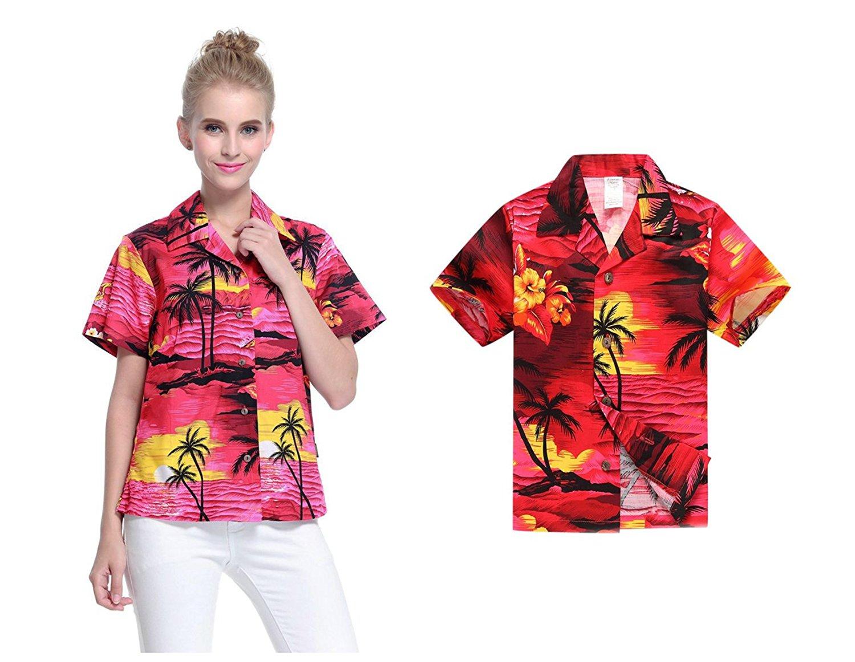e9ec65da6076 ... Outfit Melani Dress Shirt In Cream Rafelsia null. Hawaii Hangover  Matching Mother Son Hawaiian Luau Women Shirt Boy Shirt Sunset Red